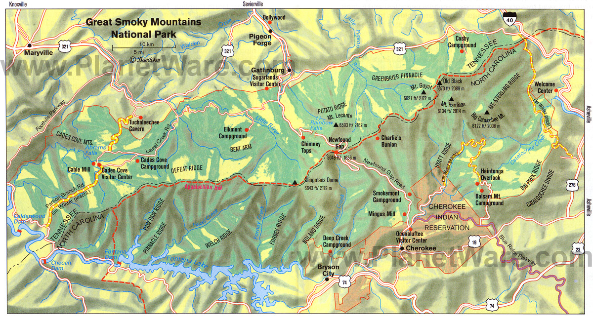 great-smokey-mountains-national-park-map